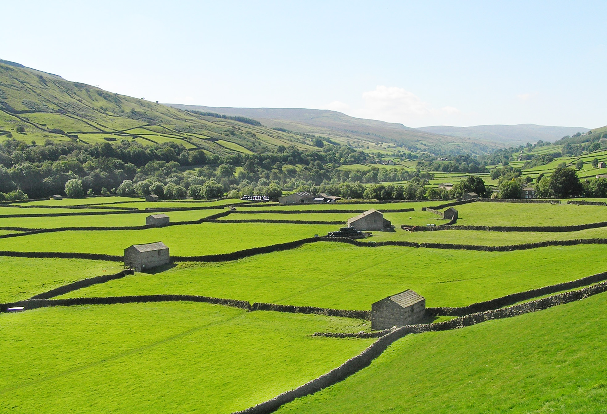 The Yorkshire Dales, which is famous for its stone barns
