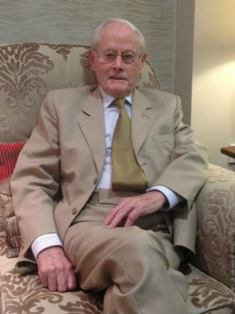 John Shannon, 97, who has been nominated for an award for his volunteer work