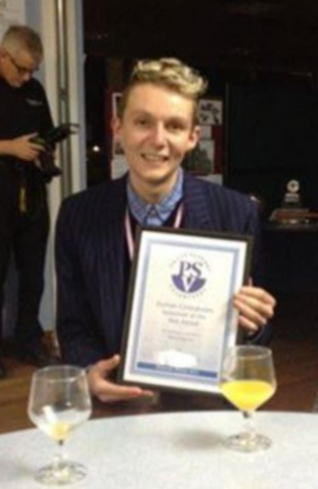 Darlington and Stockton Times: Volunteer of the Year award winner Adam Peacock
