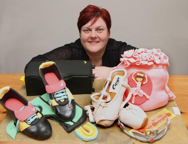 Jenny Lofthouse of Sowerby, with her award winning ballet/rugby inspired cake creations