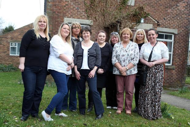 Darlington and Stockton Times: GROUP COMMITTEE: Women behind a new charity to tackle domestic abuse.  They are (L-R) Lisa Ferguson, Amy Hargreaves, Catherine Reid, Karen Collin, Angela Watson, Anne Currie, Roz Bradley, Diane Firth and Kayleigh Powers