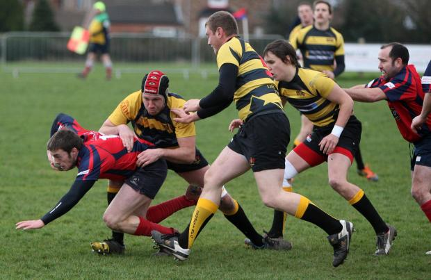 HALTED: Stockton are pegged back by Consett in their 24-39 home defeat