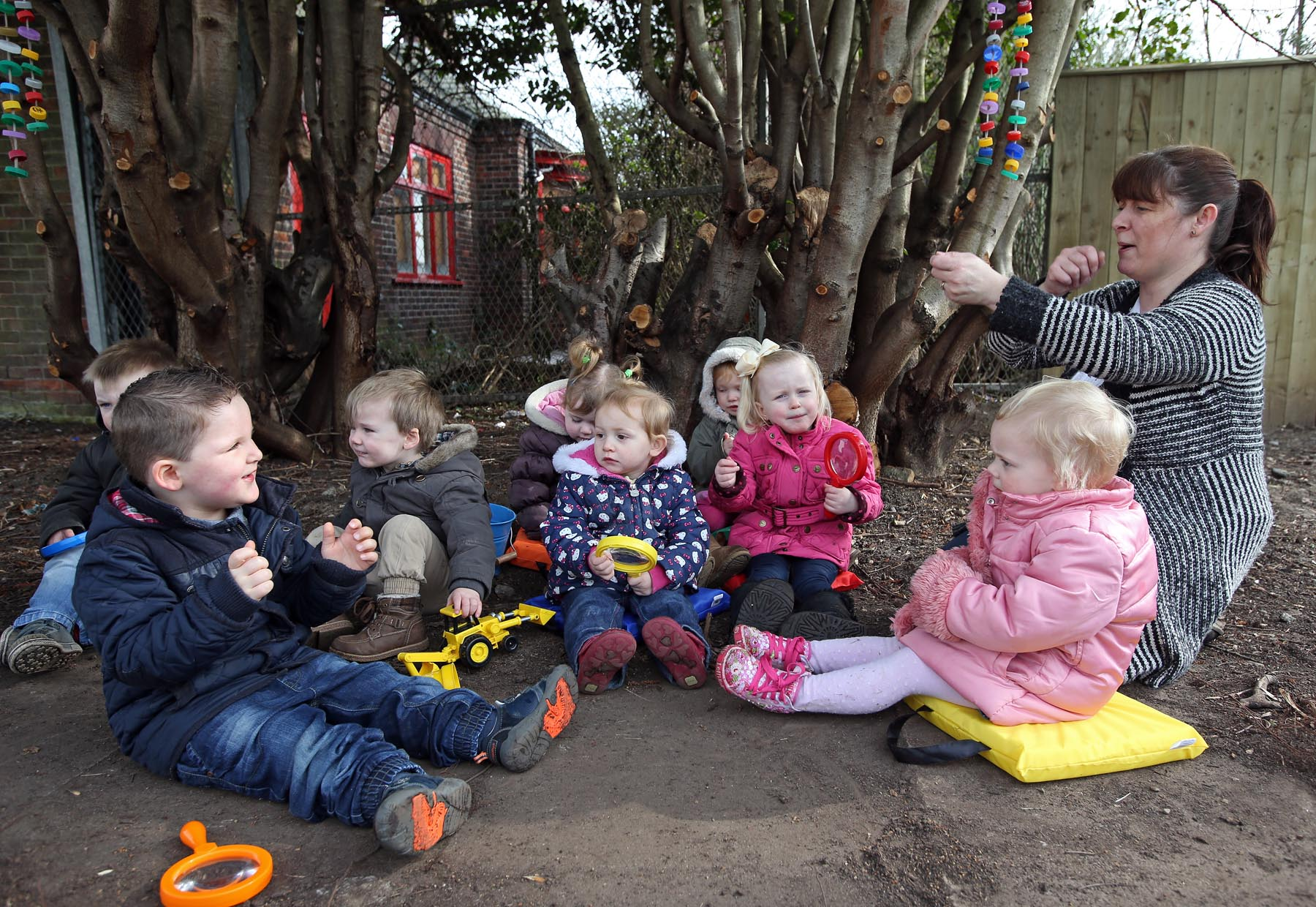 Youngsters devastated after vandals trash newly-opened playgroup garden