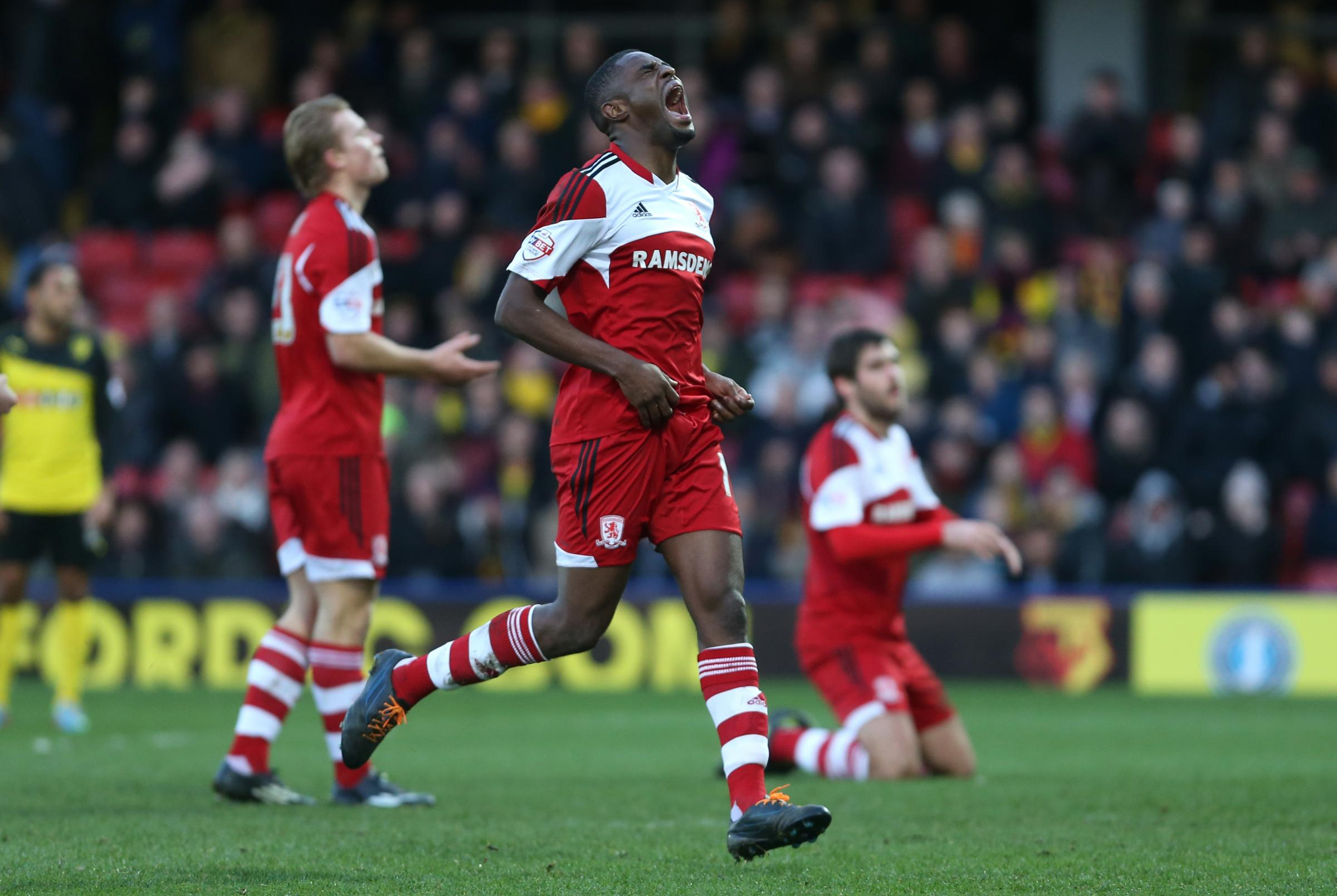 INJURY WOE: Boro attacker Mustapha Carayol is facing a lengthy spell on the sidelines