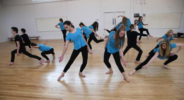 Dancers recreate their winning routine at Hummersknott Academy