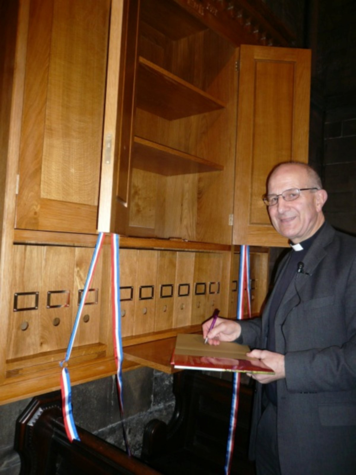 WELL READ: The Dean of Durham, the Very Reverend Michael Sadgrove, with the new bookcase