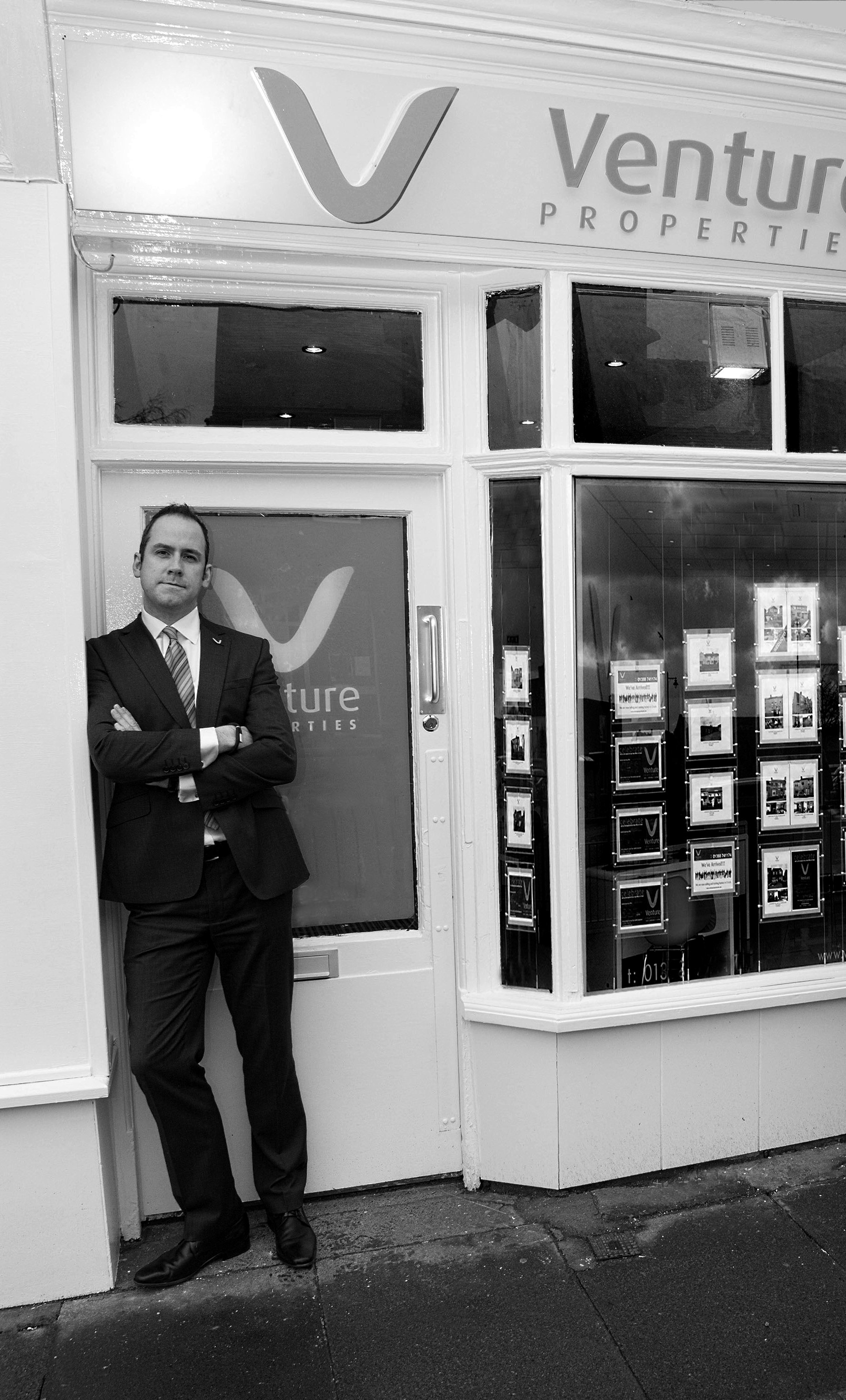 MODEST GROWTH: Michael O'Connor, director of Venture Properties, in Darlington