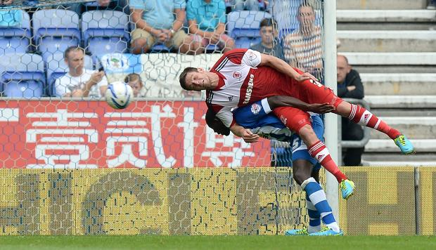 THE FALL GUY? Striker Lukas Jutkiewicz is expected to leave Boro on a permanent basis this summer despite impressing while on loan at Bolton Wanderers of late