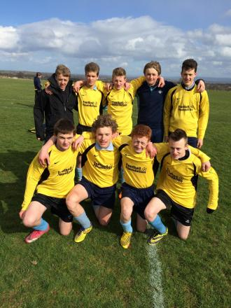 WINNING TEAM: Wensleydale School U15 seven-a-side team. Back from left, Macauley Acton, Charlie Wiggan, George Shaw, Scott Partridge and Luke Circo. Front from left, Rob Bartlett, Finn Sheehan, Sam Lane, and Kallum Shepherd.