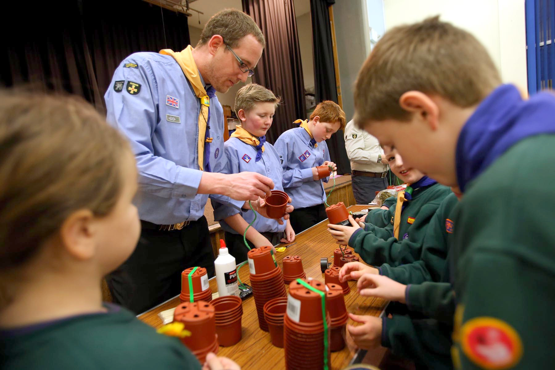 HELPING HAND: Richard Smith with the 7th Darlington Sea Scouts which he