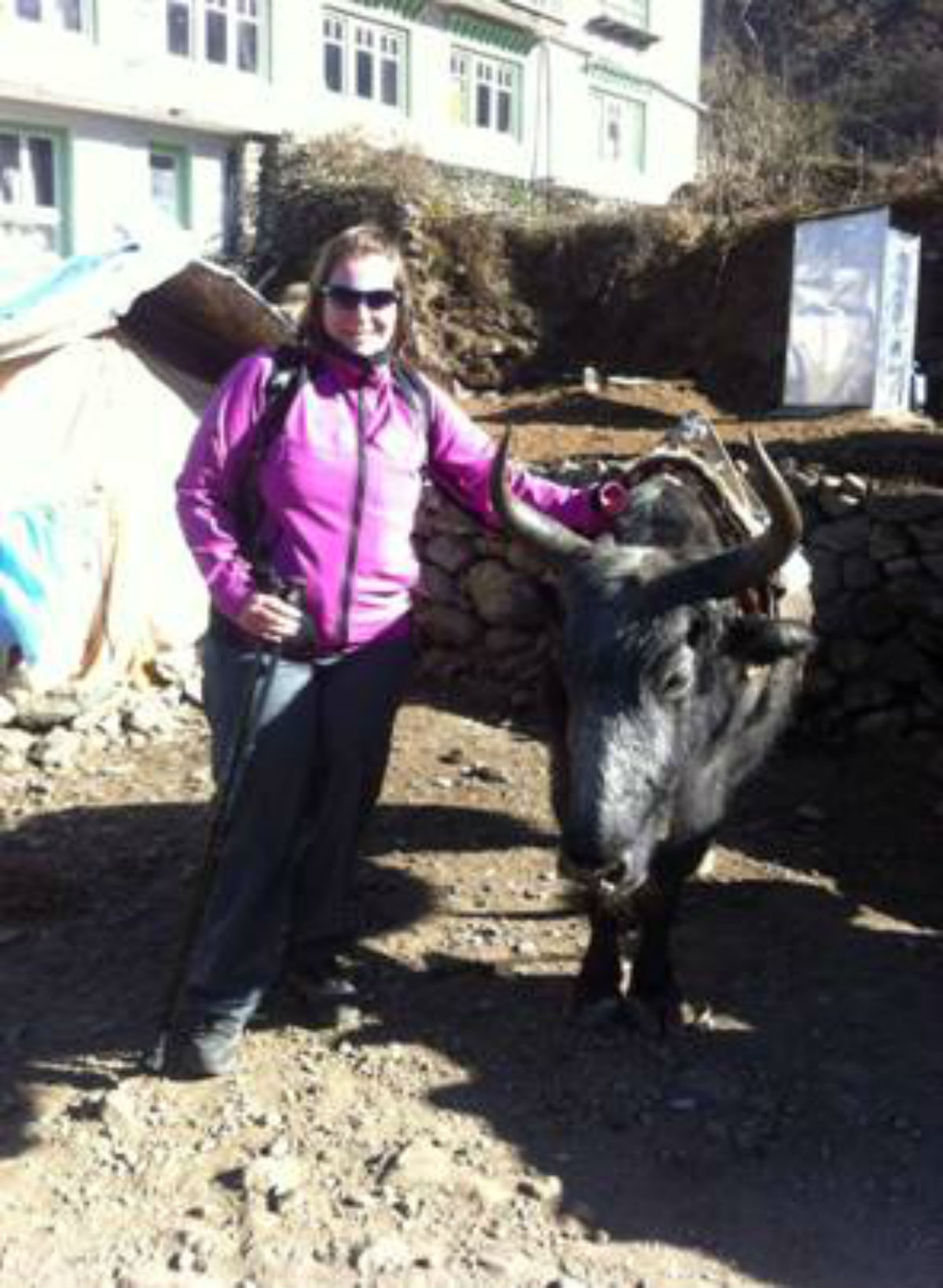 Annelies O'Nions, who has completed a successful trip to Everest Base Camp