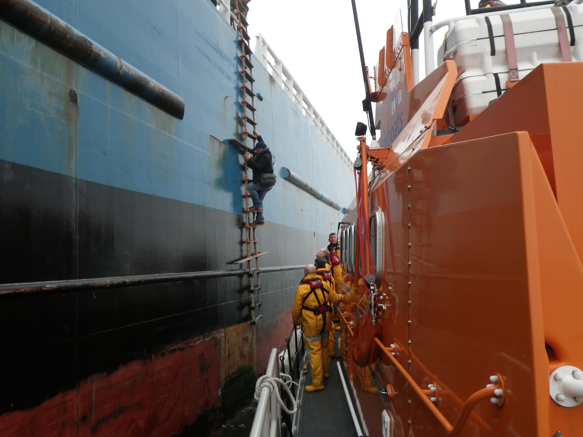 TEES PIC Injured tanker crew rescued