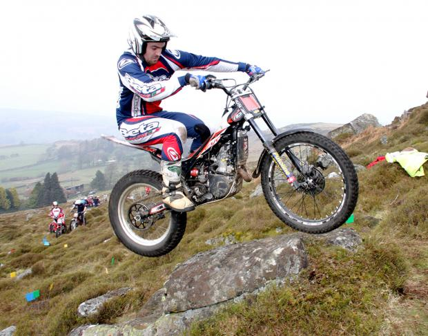 IN CONTROL: Jack Howell masters the rocky course at Westerdale, in the Esk Valley, to win Guisborough DMC's Trial on Sunday