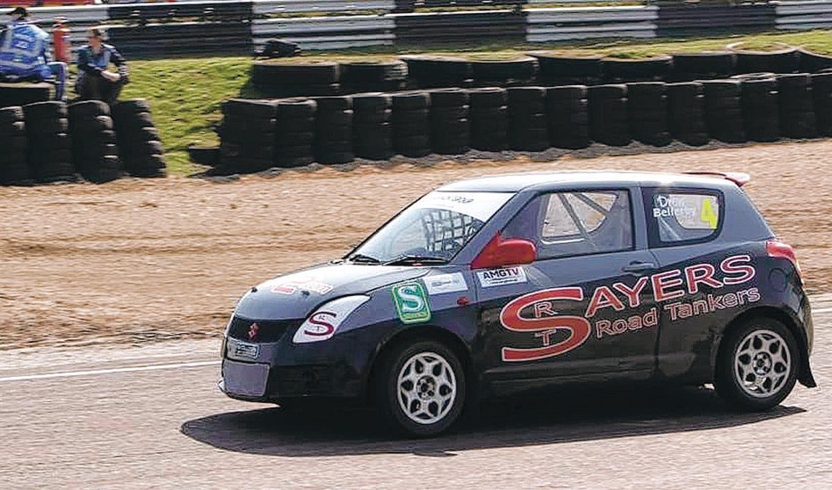 DRIVING FORCE: Drew Bellerby, 15, in action at Lydden Hill last weekend – Picture: Xavier McCartan