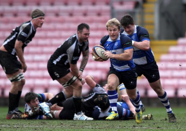 Darlington and Stockton Times: BREAKOUT: Zylon McGaffin of Mowden Park makes a break for it during Saturday's win over Otley