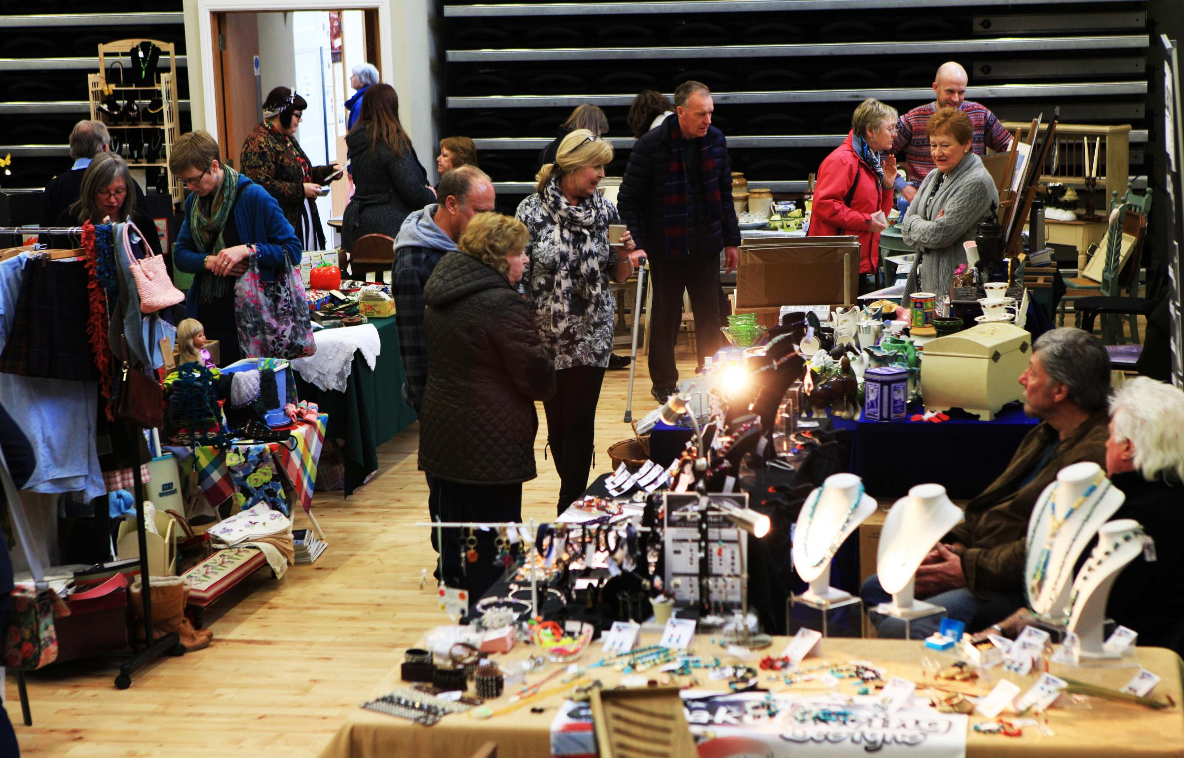 Customers browse goods on sale at Barnard Castle's first Chic Vintique event