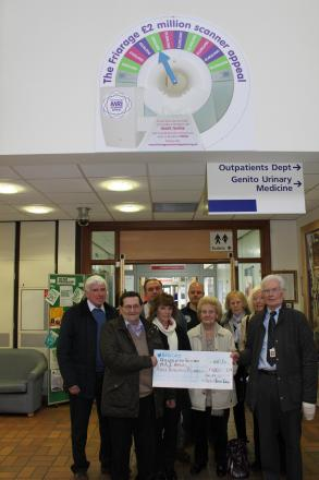 Londonderry, Leeming and Newton Parish Council presents cheque to Friends of the Friarage