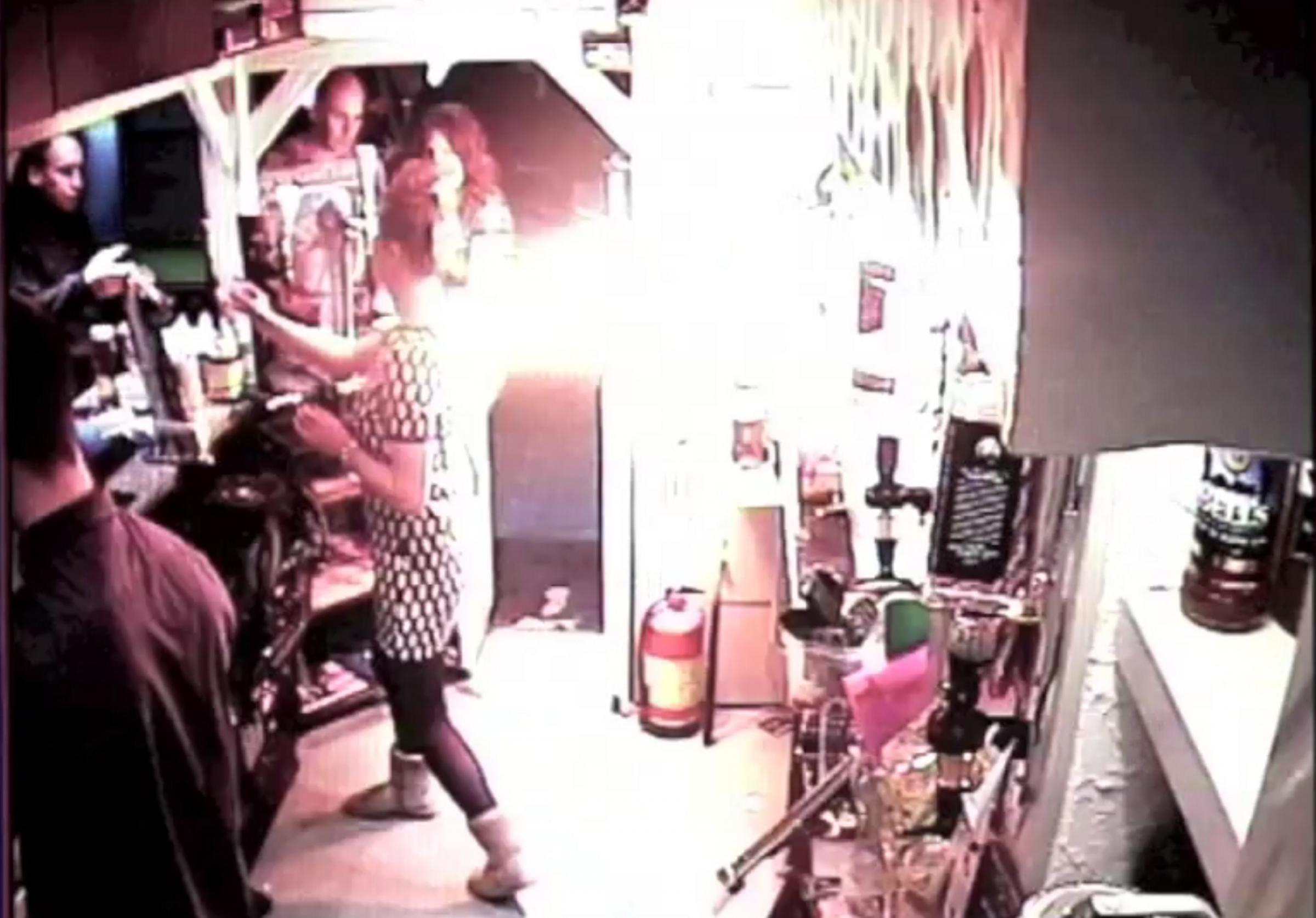 VIDEO: E-cigarette explodes in packed Richmond pub and sets barmaid on fire