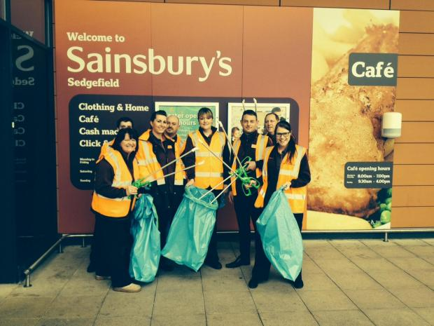Staff at Sainsbury's in Sedgefield took part in Durham County Council's Big Spring Clean Up