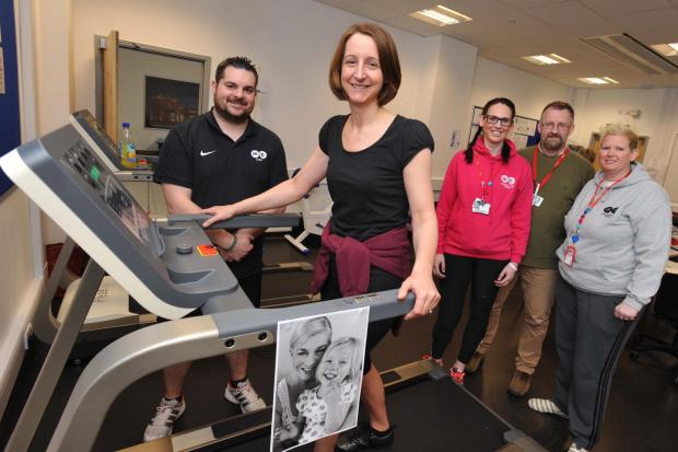 Zoe Lewis, Middlesbrough College Principal and Chief Executive, launched a fundraising event for poorly youngster Evie Grace Clasper supported by staff members (L-R) Matt Hopton, Laura Cochrane, Dan Yates and Helen Spencer - Evie's aunt.