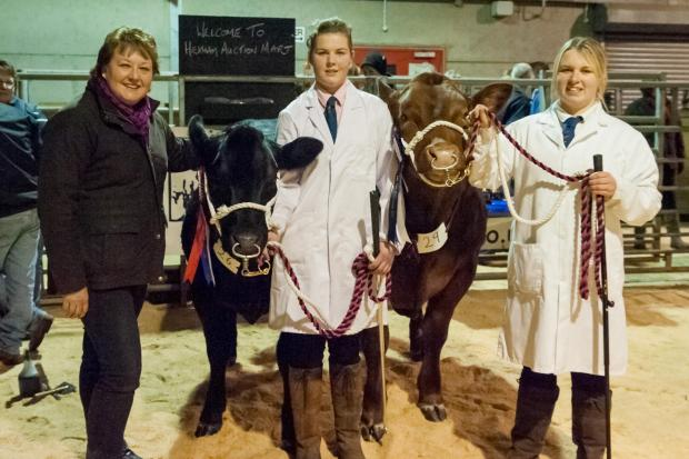 COMPETITION: From left, judge Julie Sedgewick, champion Nicola Chapplehow and reserve champion Angela Chapplehow