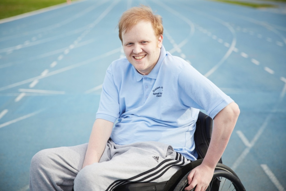 Spinal injury proves no barrier to competing in sport