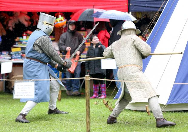 Darlington and Stockton Times: A medieval combat display at last year's fair