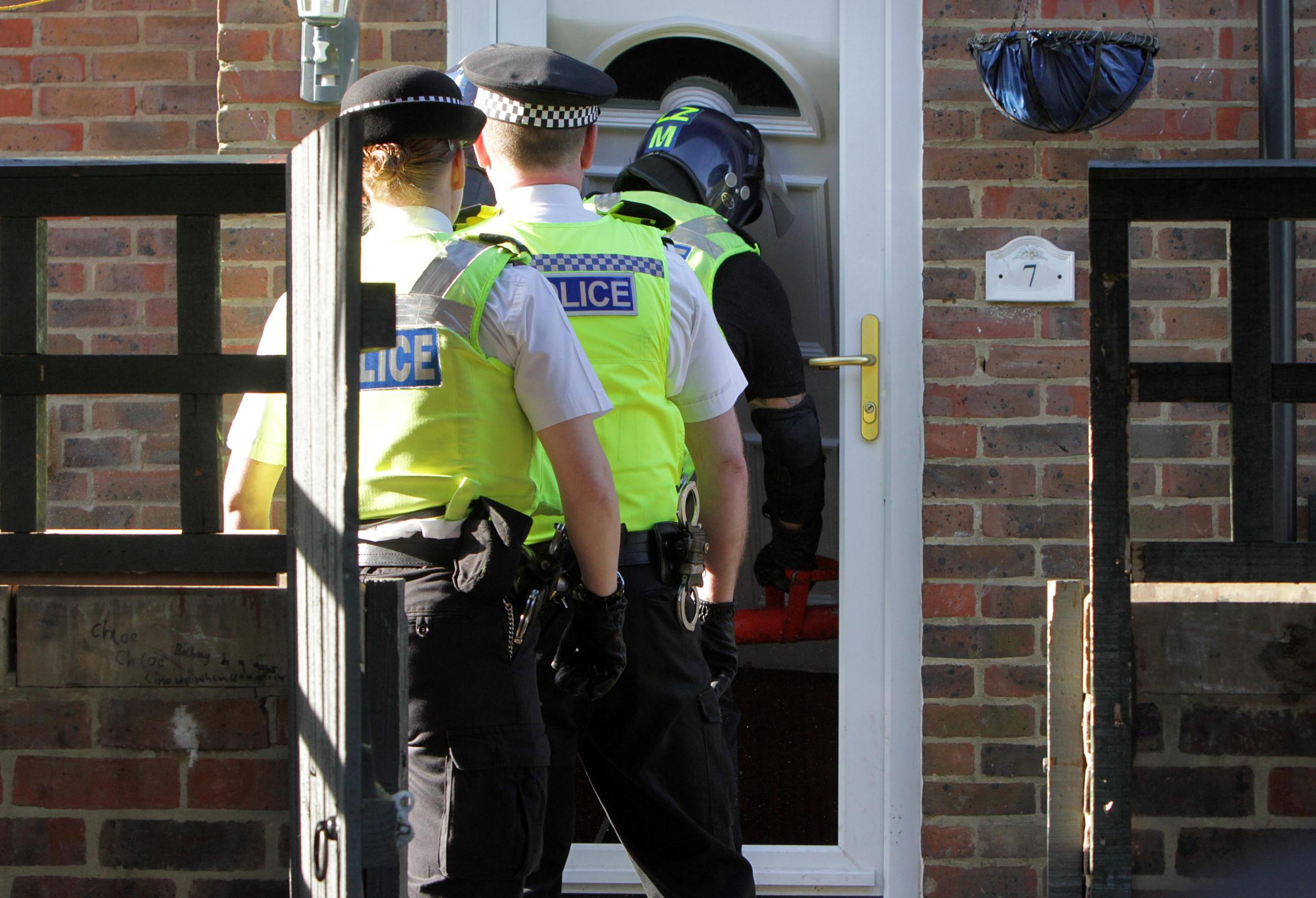 Police execute a drugs warrant on a home on Alnwick Court, Middlesbrough. Picture by Tom Banks