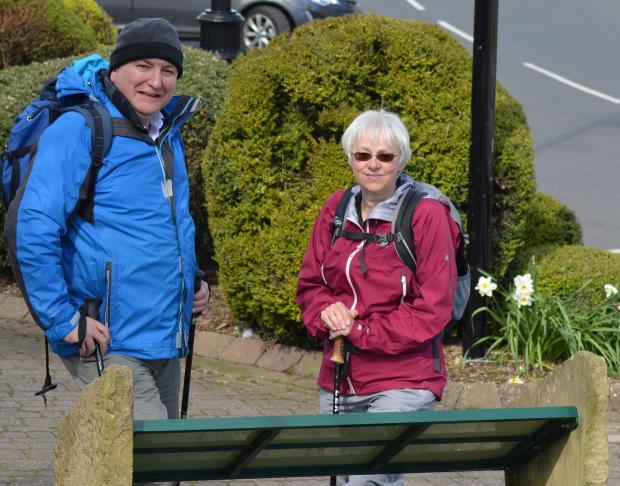 Darlington and Stockton Times: WALKING CHALLENGE: Ian Tallentire and Lynda Bares, of the Upper Teesdale Tourism Network