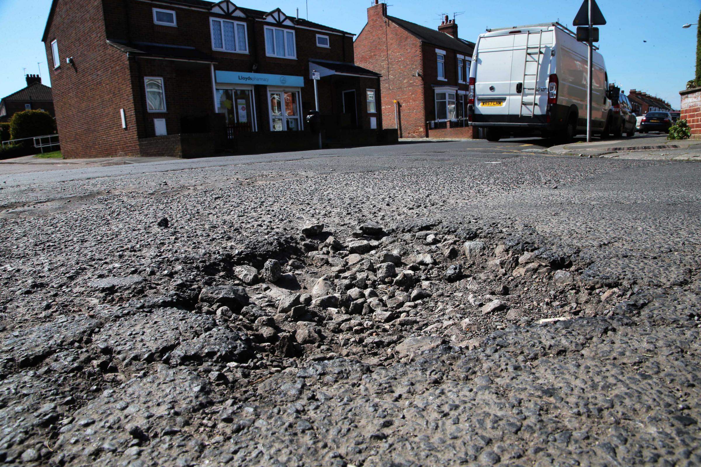 £10m will be spent on patching up potholes in the region