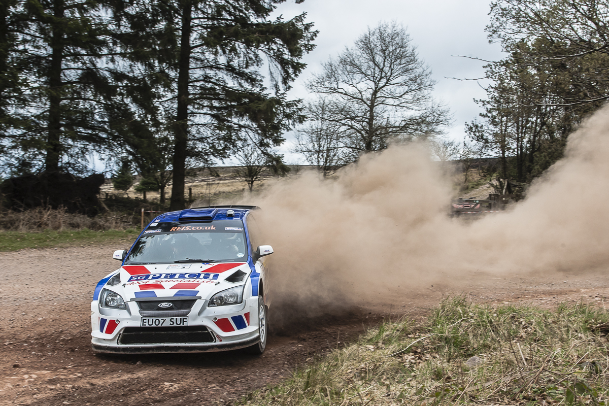 DIRT TRAIL: Stephen Petch in action in the Betta Somerset Stages Rally, where he was pipped for first place – Picture: RallySport media