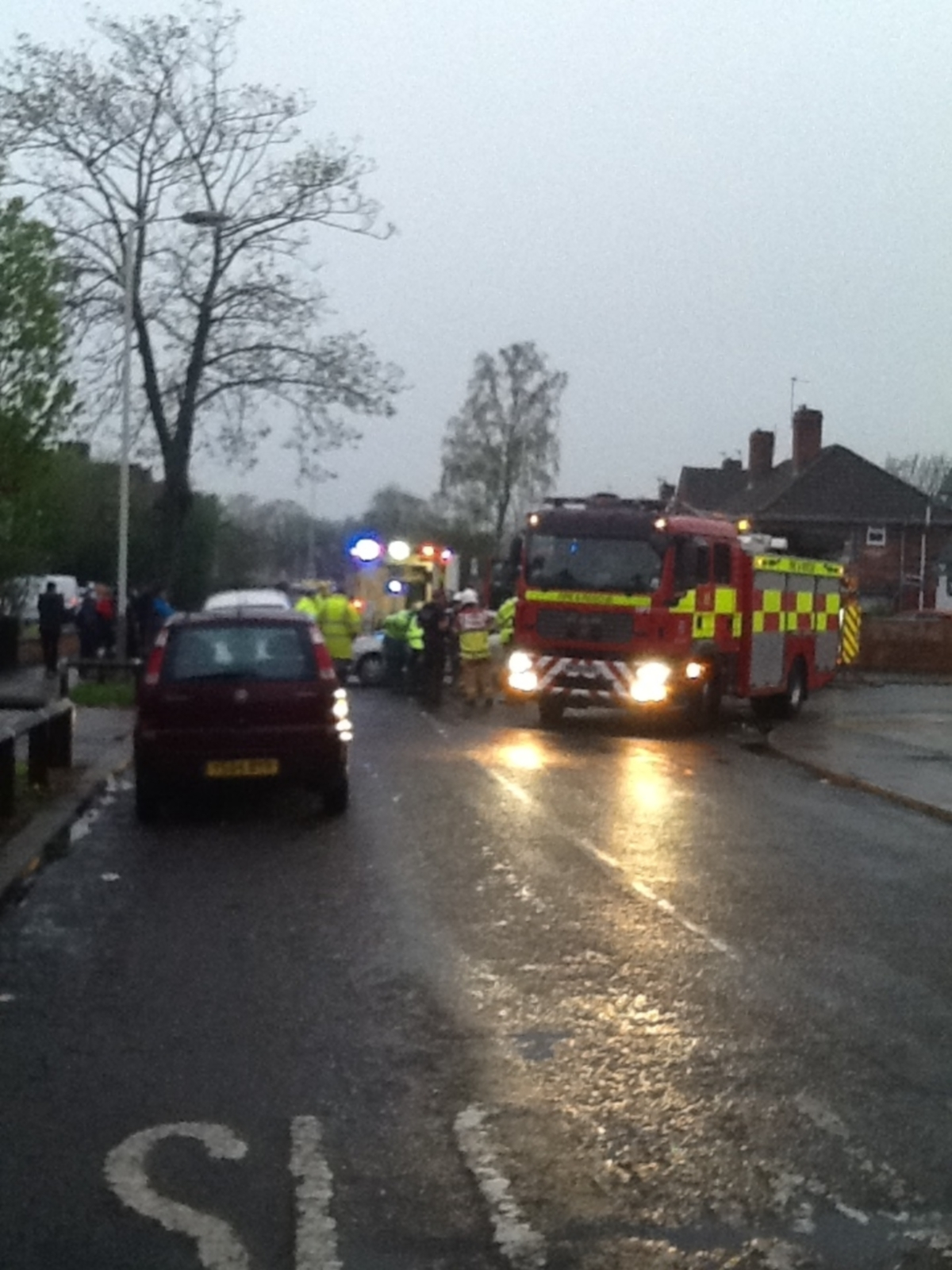The scene of the accident. Pic: Andy Walker