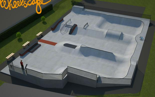 PROJECT: An artist's impression of the new skatepark in Ripon.