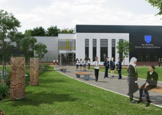 An artist's impression of how new facilities at Ian Ramsey secondary school in Stockton will look