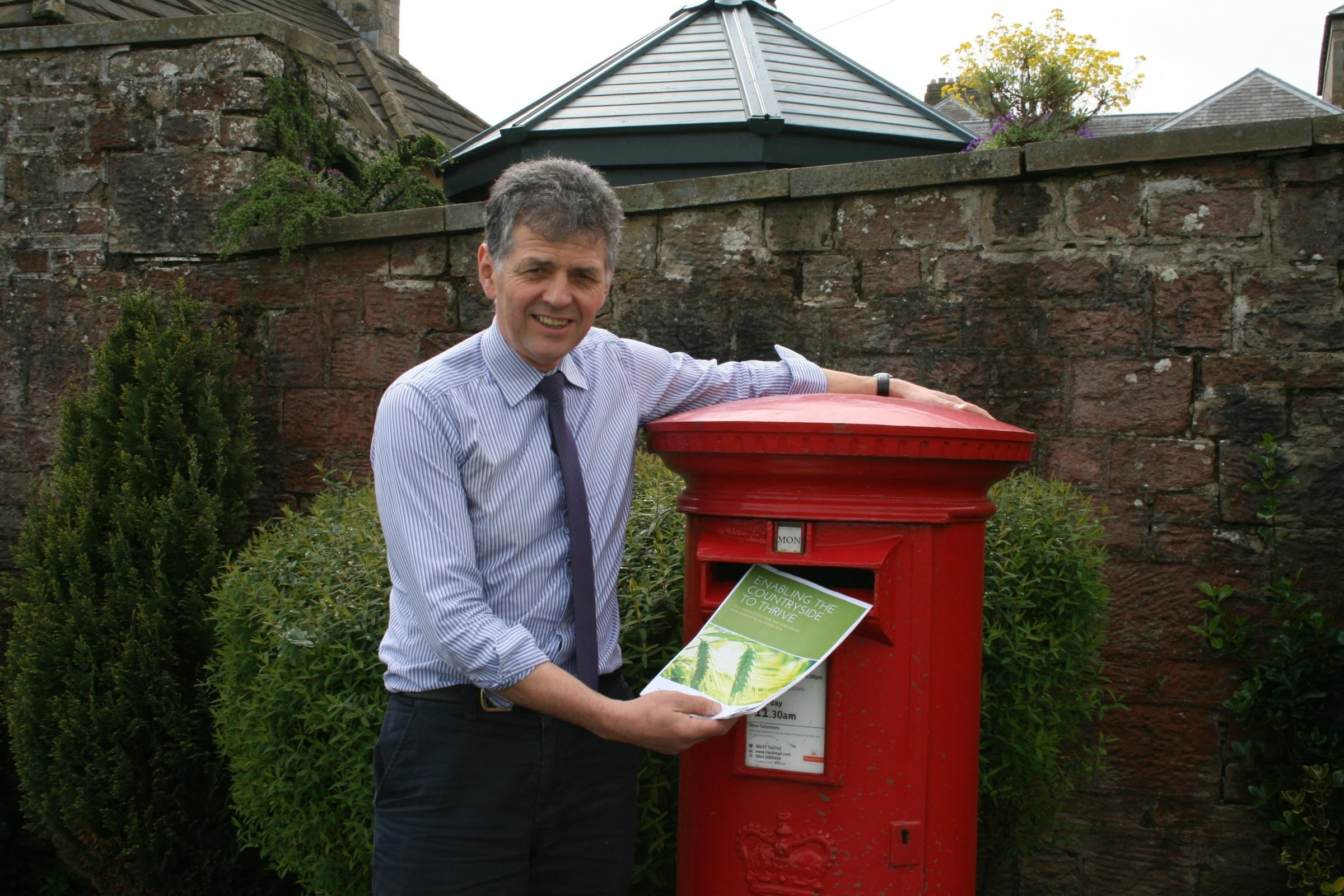 CONDITIONS: The CLA's Douglas Chalmers has written to more than 40 European election candidates in the region