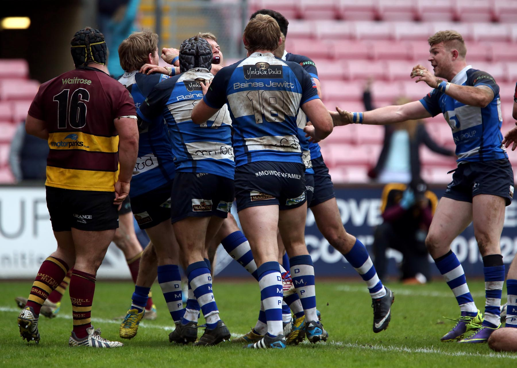 Mowden celebrates after play-off drama