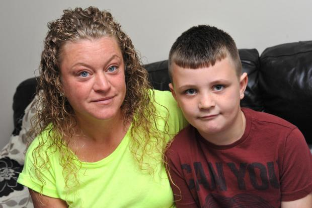Darlington and Stockton Times: ASTHMA WOE: Junior Rucroft, of Darlington, with his mother Paula Hopps