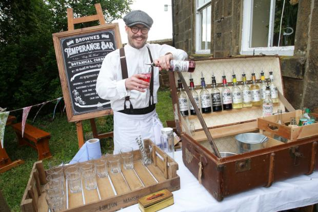 FLAVOURS: Steven Brown with his temperance bar at Osmotherley