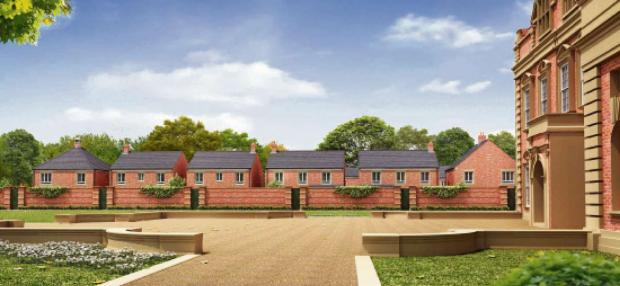 An artist's impression of the proposed development at Acklam Hall