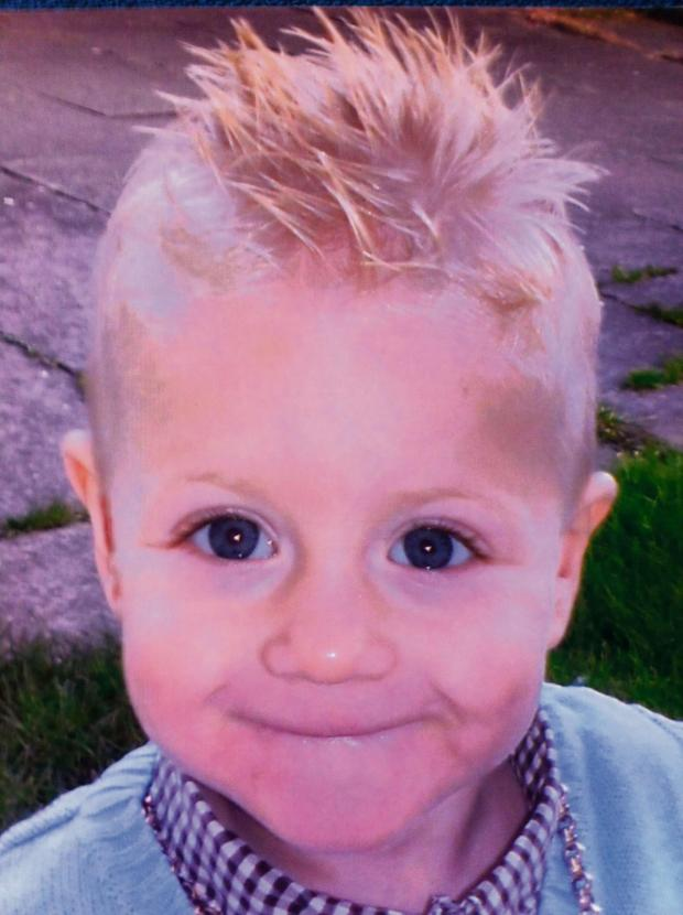 Darlington and Stockton Times: Three-year-old Danny Wake