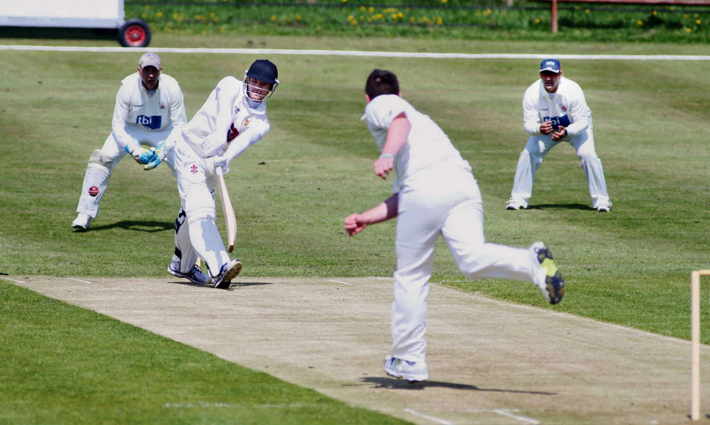 AT THE CREASE: David Miller batting for Sedgefield