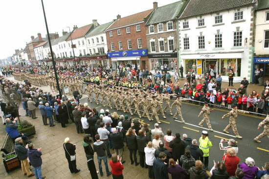FREEDOM MARCH: Scenes from a previous year's parade of 10 Field Squadron from RAF Leeming in Northallerton.