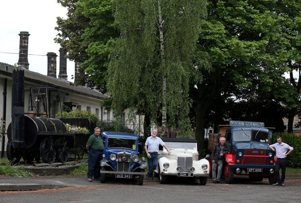 A preview of the vintage vehicle rally at the Head of Steam museum in Darlington this weekend.  Pictured (L-R) Northern Bygone Society's Paul Jackson with Morris 10/4, Ray Nevison with Armstrong Siddeley Hurricane, and John Gornall and Tony Jackson wi