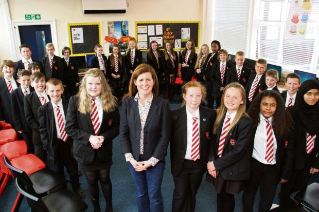 Darlington MP Jenny Chapman was questioned by students at Darlington School of Mathematics and Science
