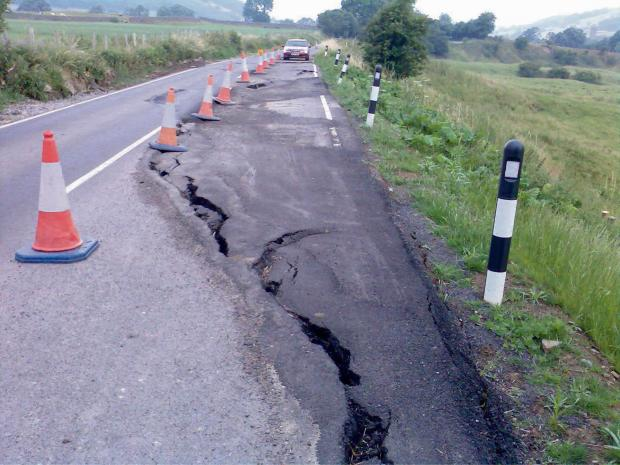 LANDSLIP PROBLEMS: Section of B6270 has re-opened after repair work