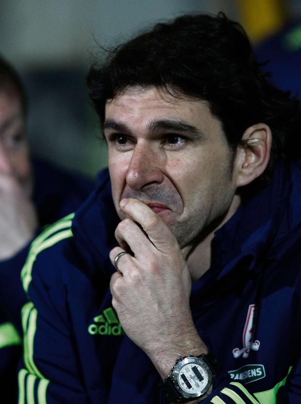 Darlington and Stockton Times: Middlesbrough's Manager Aitor Karanka. Huddersfield Town v Middlesbrough - Tuesday 25th March 2014 - The John Smith's Stadium - Huddersfield