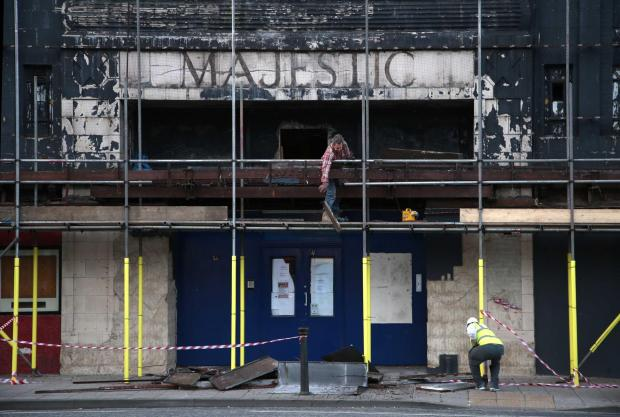 The most recent frontage has been stripped from the old Majestic Cinema on Bondgate, Darlington, a stage of the latest transformation of the old building that was most recently a snooker hall. Picture: Andy Lamb