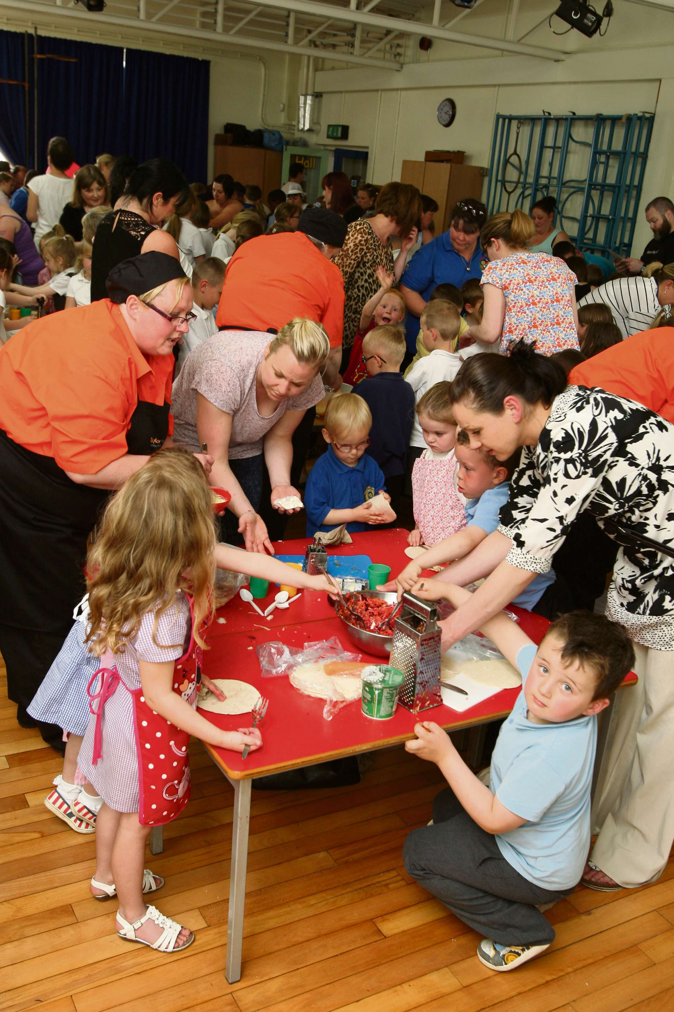Fishburn children cook up a storm with Jamie Oliver