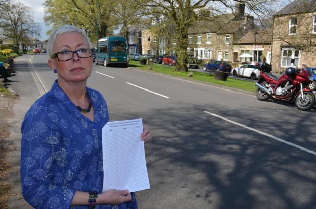 NO PROBLEM: Petitioner Diane Spark says parking restrictions are not needed in Middleton-in-Teesdale