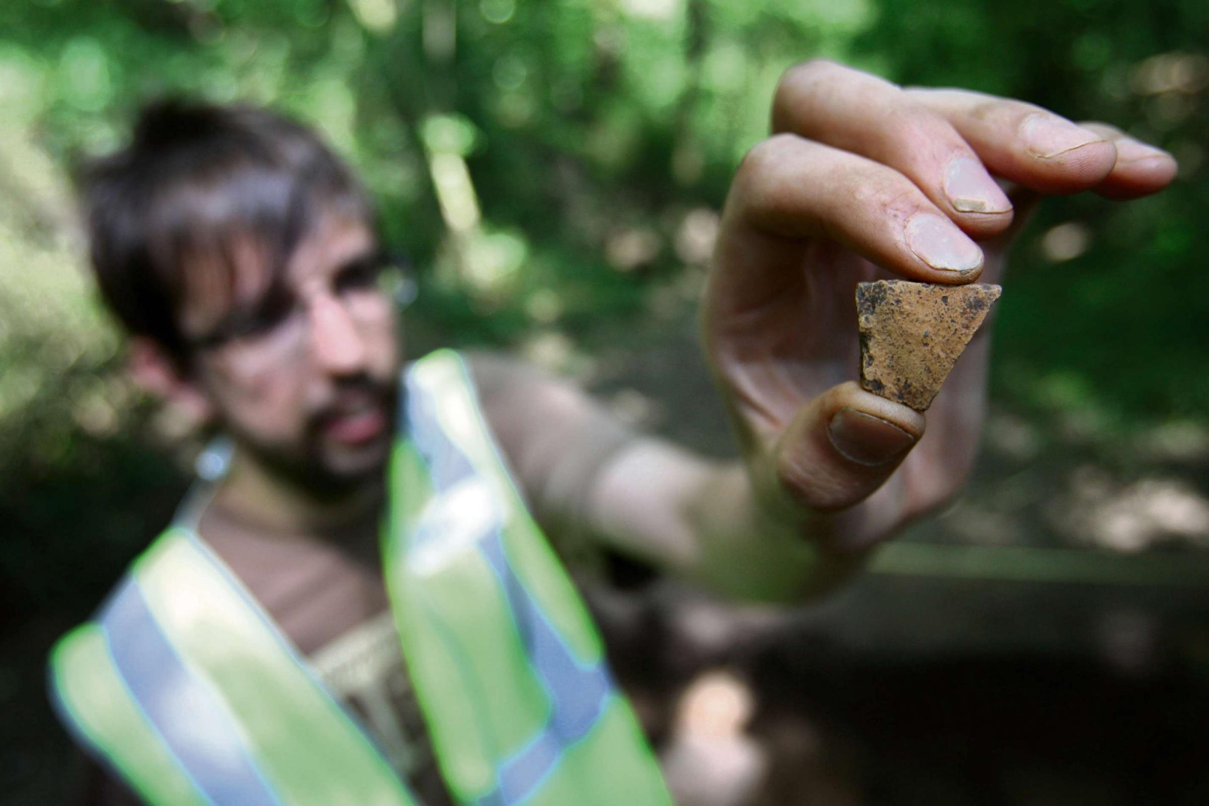 Medieval pottery found at woodland park